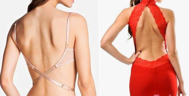 Как носить платьице с открытой спиной