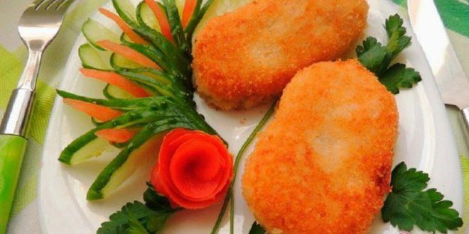 Простые котлеты из картофеля и риса