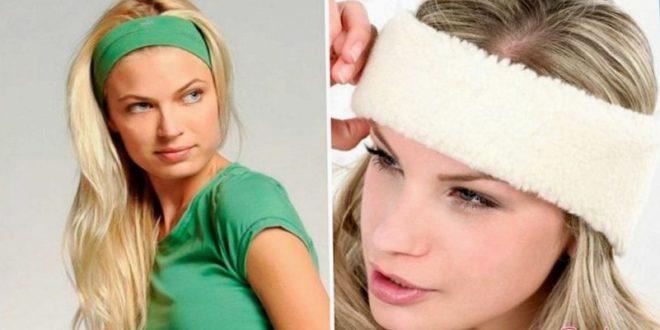 Имеется разные способы как носить повязку для волос
