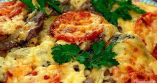 Картофель по-французски с грибами