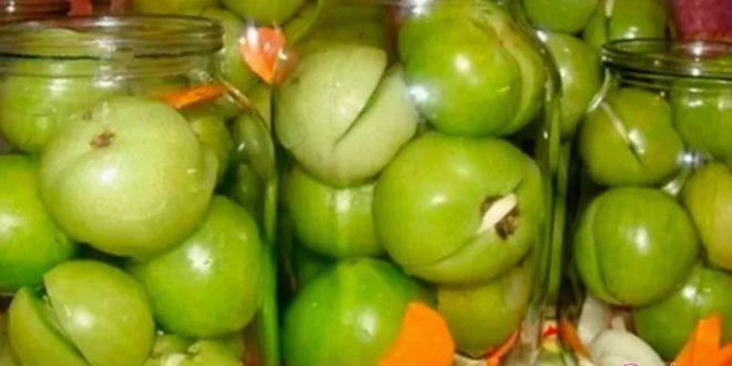 Смачные зеленые помидоры на зиму